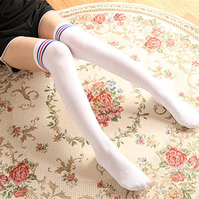 Costbuys  High Socks Sexy Stockings Women Cotton Over knees Over the Knee Socks Women Pantyhose For Women 8 Colors - a8