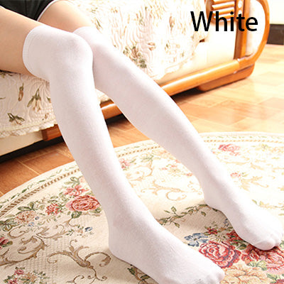 Costbuys  High Socks Sexy Stockings Women Cotton Over knees Over the Knee Socks Women Pantyhose For Women 8 Colors - a4
