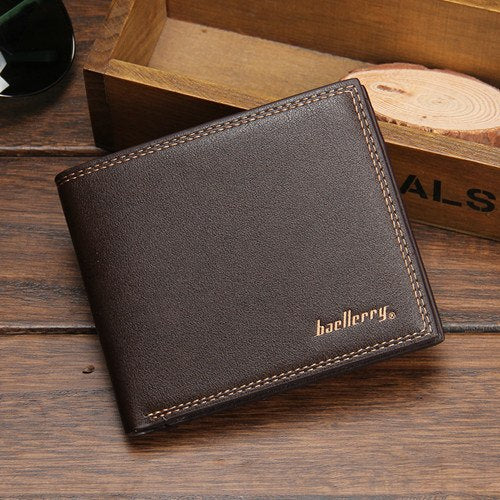 Costbuys  New Fashion Men Stylish Business Leather short Wallets Card Holder Coin Purses Male Portfolio Portefeuille - 2