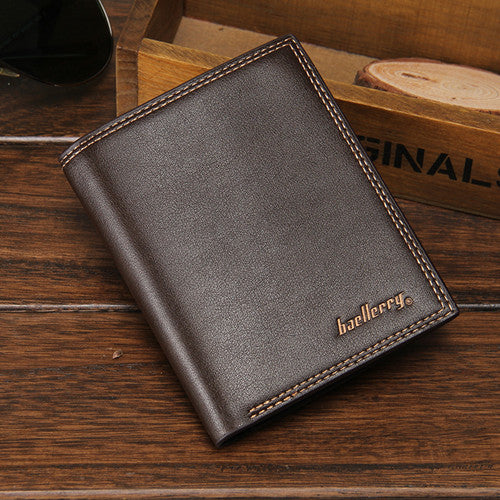 Costbuys  New Fashion Men Stylish Business Leather short Wallets Card Holder Coin Purses Male Portfolio Portefeuille - 4