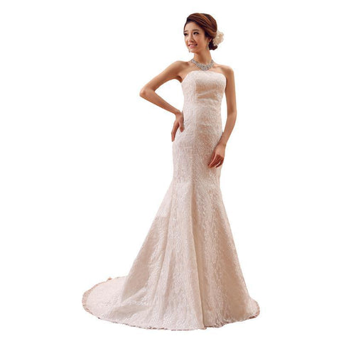Classic Style Dress Summer Design White Off Shoulder SexyLace Train Bridal  Wedding Dress.  94.94 USD.  197.55 USD. Sexy Open Back Bohemian Lace  Vintage Boho ... 4af6f989cb32
