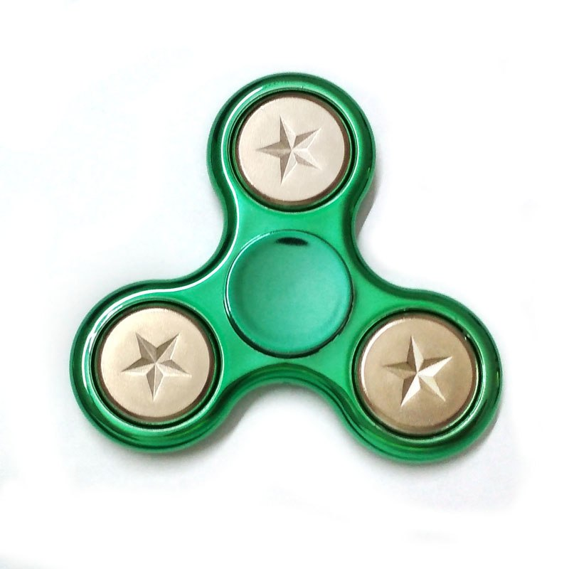 Costbuys  New Style Toys Plating Metallic Anti Stress EDC Fidget Toys Hand Spinner Fingertip Gyro ADHD Finger Gyro B0187 - Green