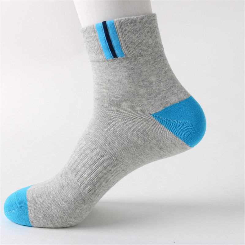 Costbuys  Winter warm Cotton socks Men Casual Crew male business casual thermal cotton Fashion socks Men Sporting Socks - blue a
