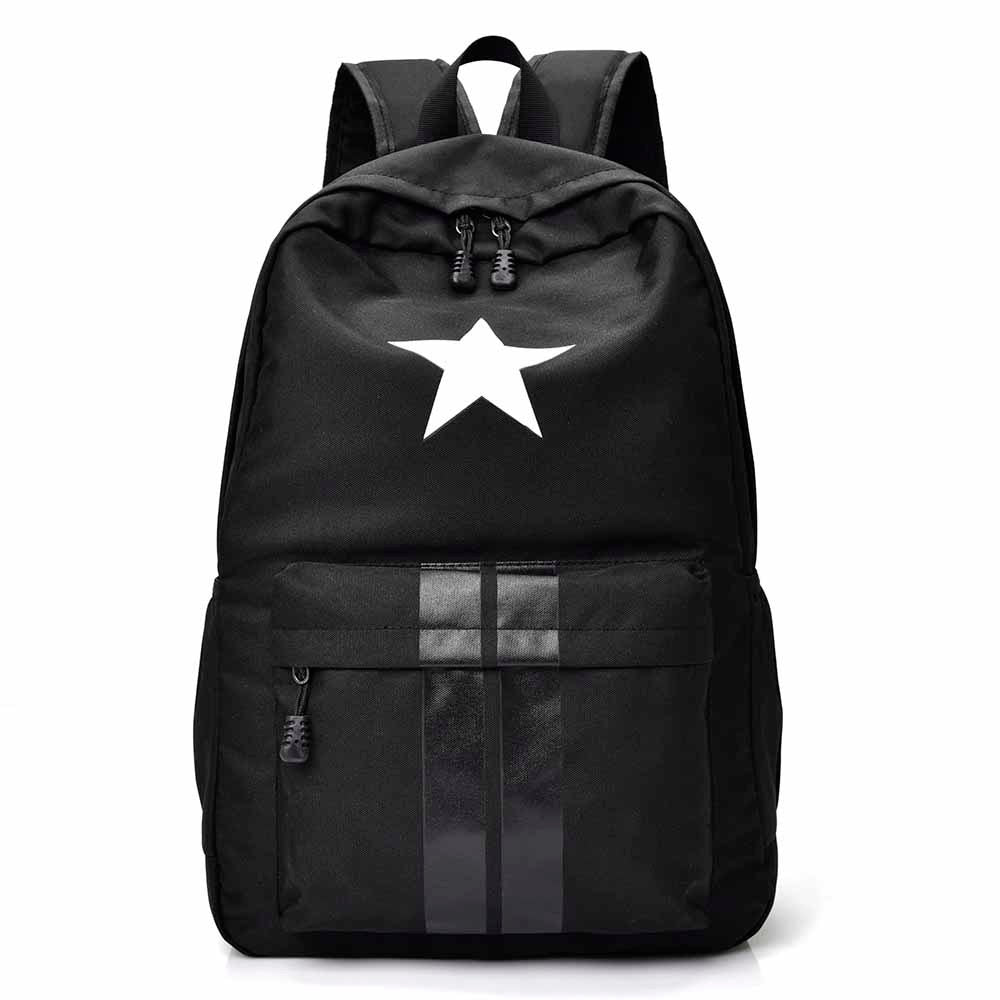 Costbuys  Backpacks For Teenage Girls&Boys Student Portfolio School Bag Casual Travel Laptop Rucksack Escolar - black