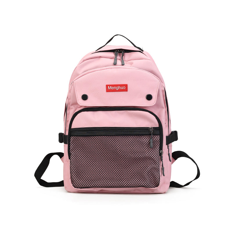 Costbuys  Women Backpacks For Teenage Girls Youth Trend Schoolbag Student Bag Nylon Waterproof Laptop Backpack - Pink / L29 W15
