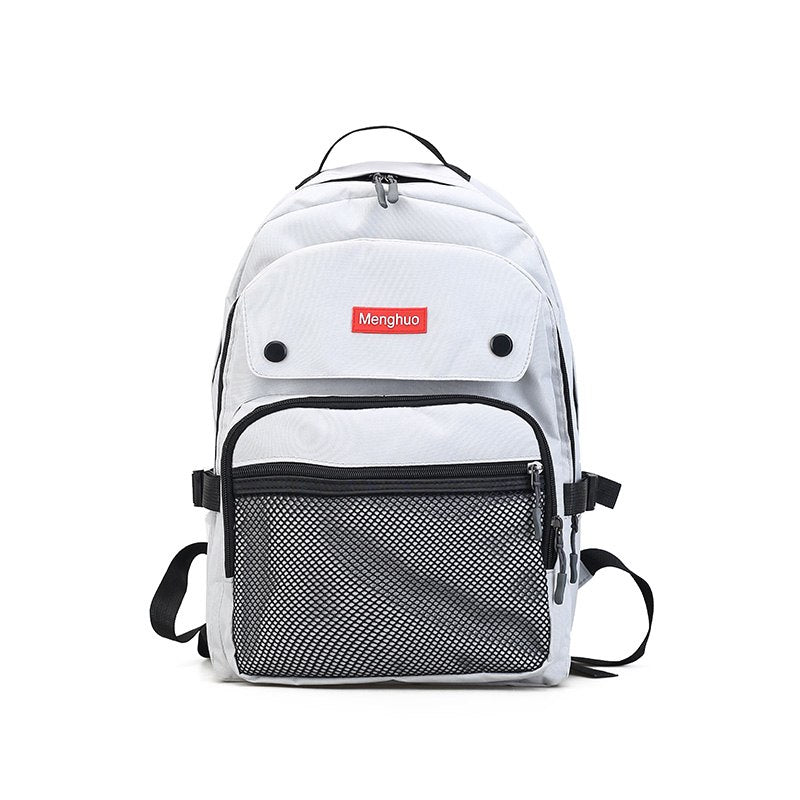 Costbuys  Women Backpacks For Teenage Girls Youth Trend Schoolbag Student Bag Nylon Waterproof Laptop Backpack - Gray / L29 W15