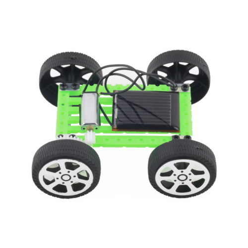 Costbuys  new 1 pcs New Cute Solar Power Robot Toy Solar Power Mini Toy Car Moving Racer Teaching Gadget for child's gift
