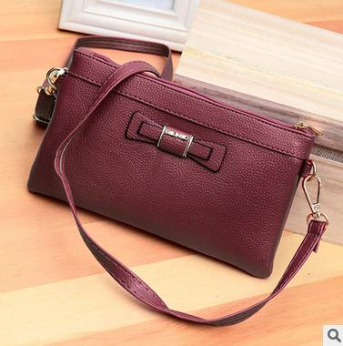 Costbuys  new bow and mini female bag creative mobile phone bag Tide female coin bag oblique satchel mobile wallet Crossbody Bag