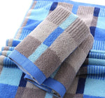 2pcs/pack 34*75cm Plaid Cotton Terry Towels for Adults Face Washcloth Bathroom Hand Towels Toallas de Mano Face towel