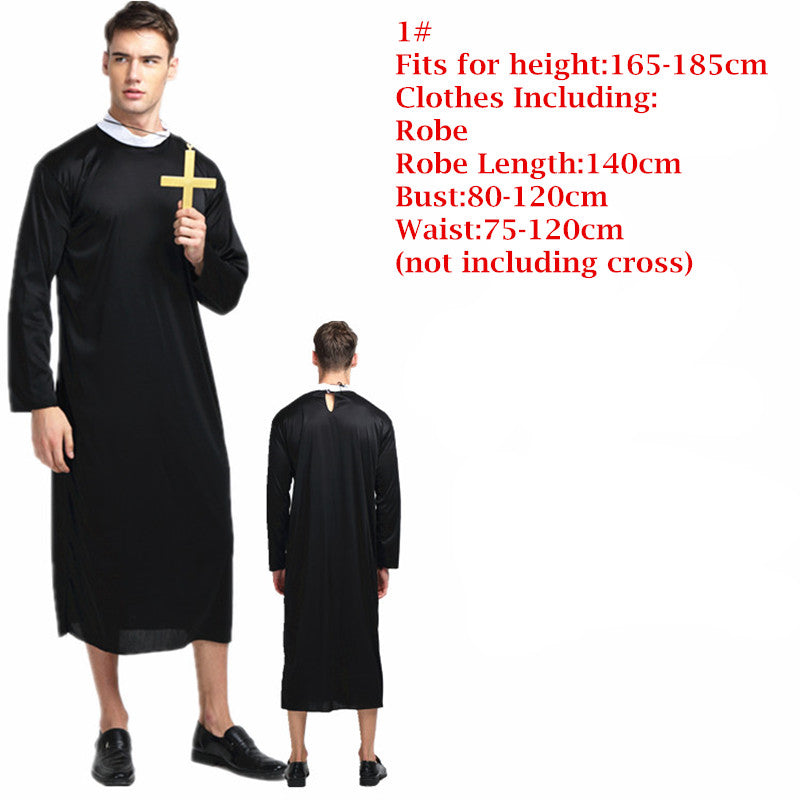 Adults Priest Nun Costume Men Women Missionary Cosplay Costumes Halloween Carnival Party Dress Supplies  sc 1 st  Costbuys & Adults Priest Nun Costume Men Women Missionary Cosplay Costumes ...
