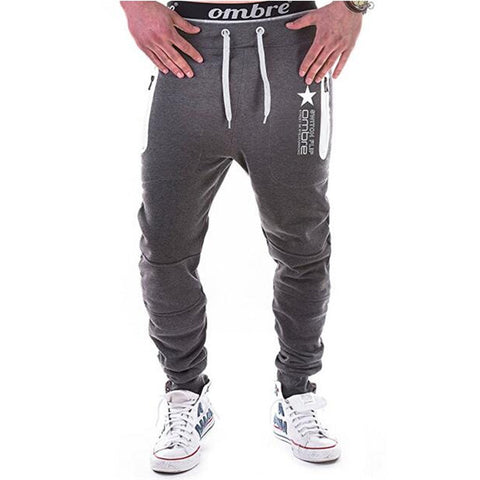 Sweatpants Men's gasp workout bodybuilding clothing casual black sweatpants joggers pants fashion Ankle-Length Pants