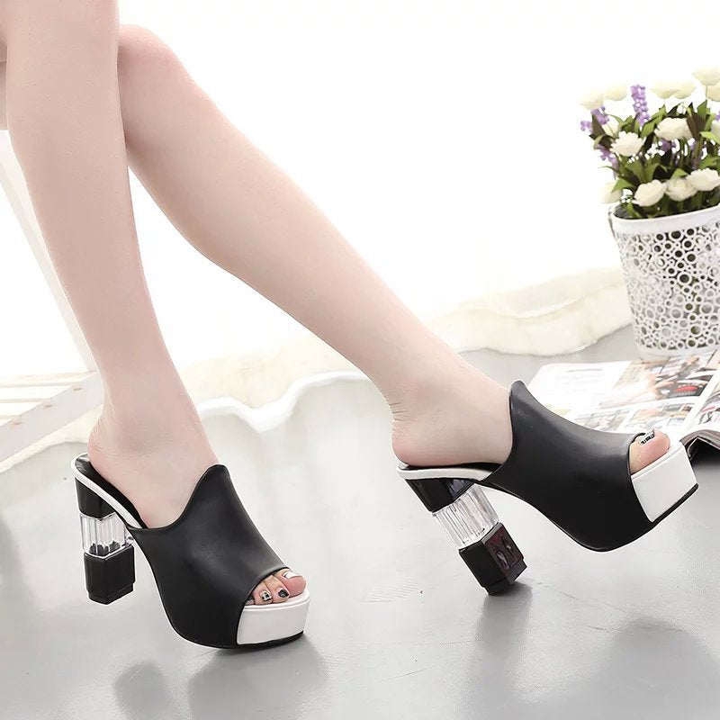 High Heels Ladies Pumps Sexy wedding Shoes Woman Footwear platform bottom Women's summer sandals gladiator flip flops
