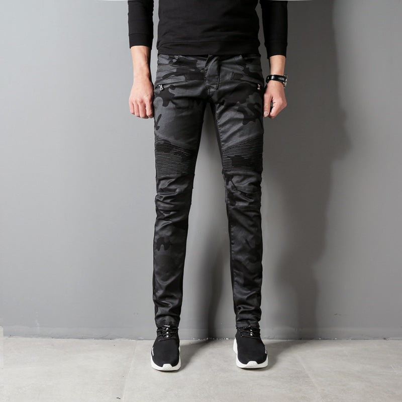 0accb78978c Higt Street Fashion Men s Jeans Black Color Slim Fit Hip Hop Jeans Str –  Costbuys