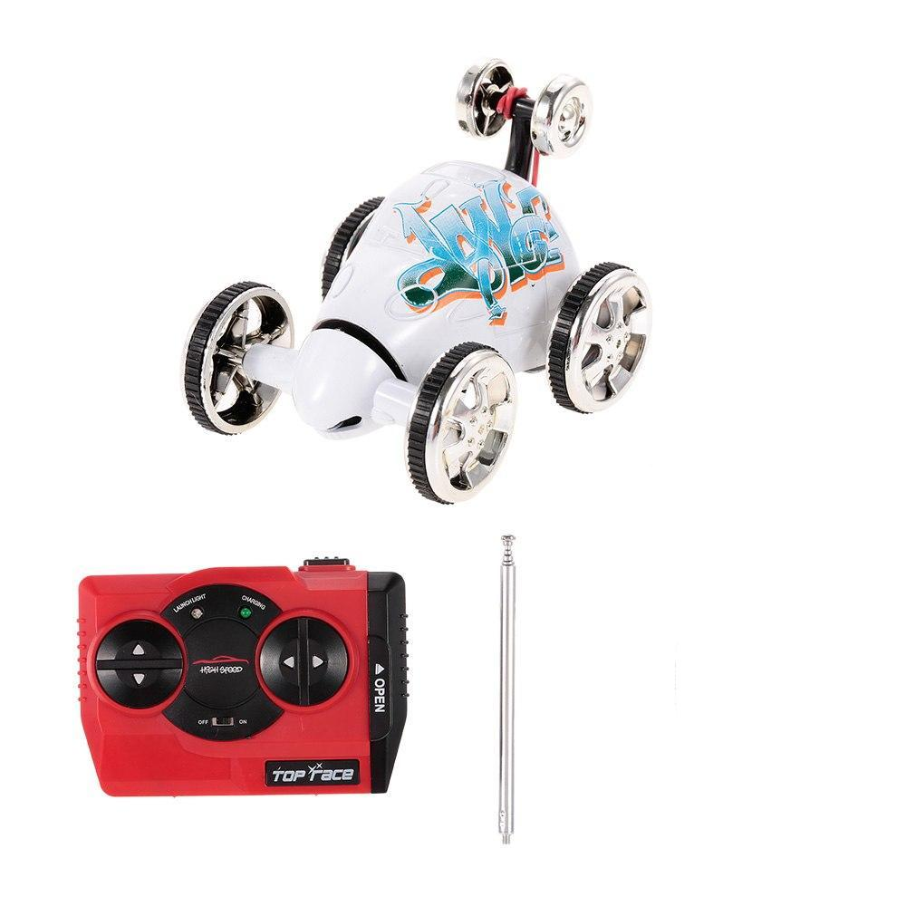 Costbuys  360 Degree Rolling Rotating Wheel Car Mini RC Stunt Car Cartoon Remote Control Car Toys 6 Types Randomly Delivered - c