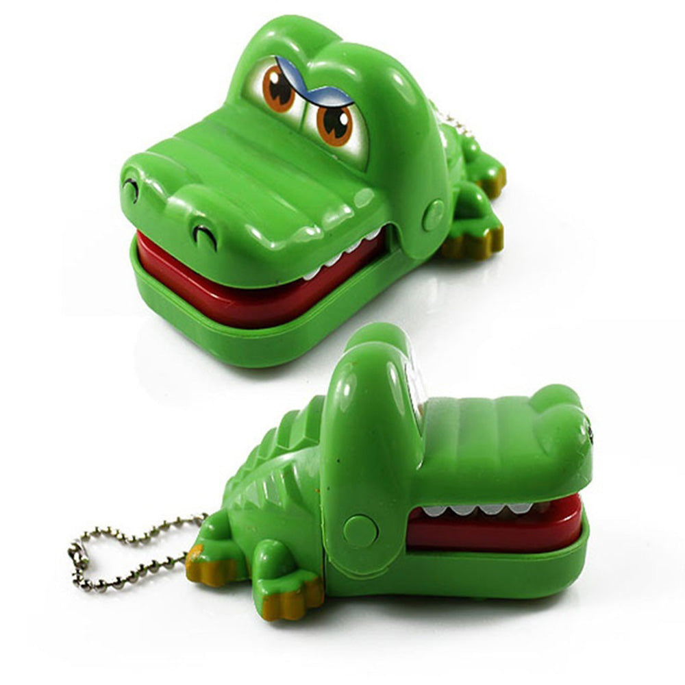 Costbuys  2018 Hot Sale New Creative Small Size Crocodile Mouth Dentist Bite Finger Game Funny Gags Toy For Kids Play Fun - gree