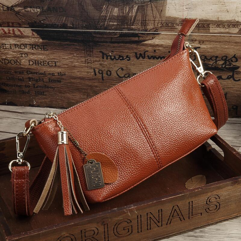 Costbuys  Hot Sale Popular Fashion Brand Design Genuine Leather Bag Women Messenger Bags Cowhide Shoulder Bag Women Handbags - B