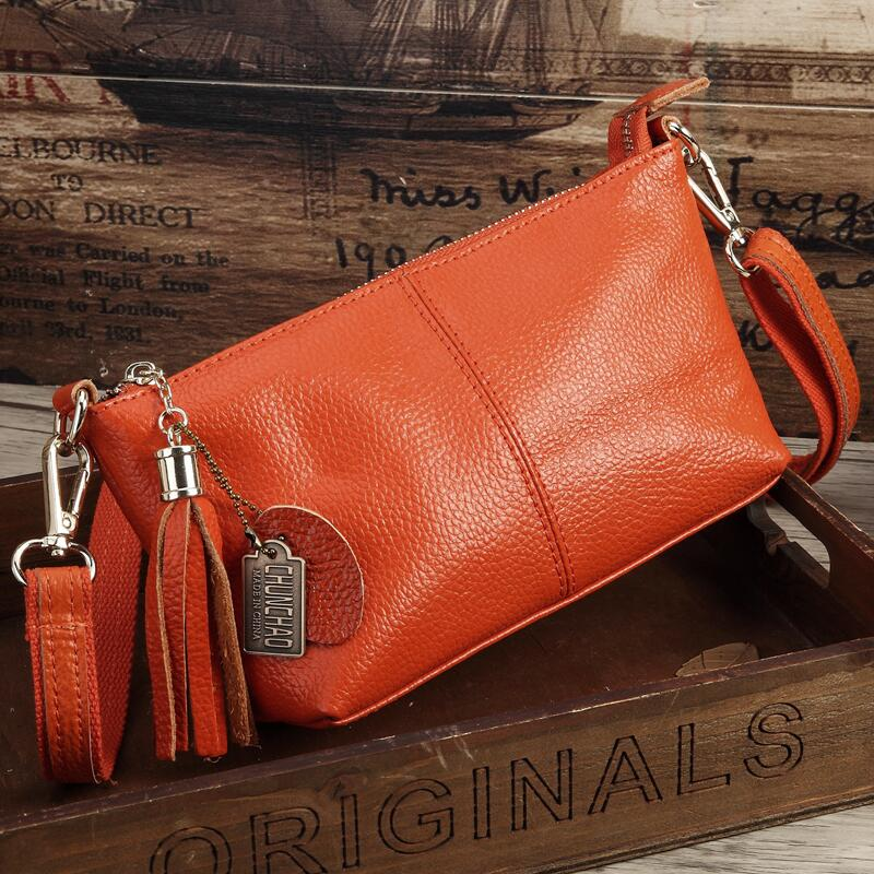 Costbuys  Hot Sale Popular Fashion Brand Design Genuine Leather Bag Women Messenger Bags Cowhide Shoulder Bag Women Handbags - O