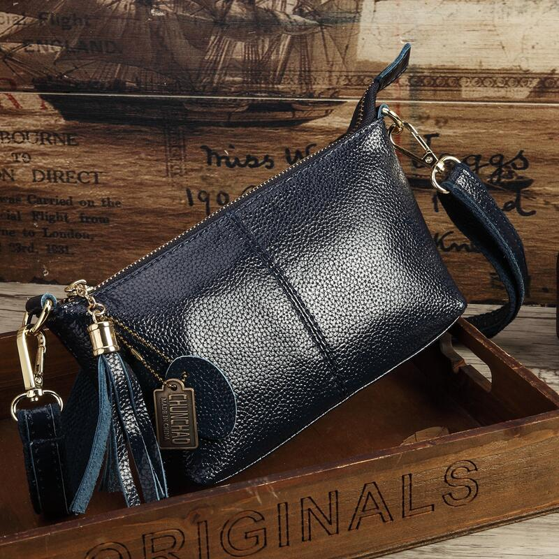 Costbuys  Hot Sale Popular Fashion Brand Design Genuine Leather Bag Women Messenger Bags Cowhide Shoulder Bag Women Handbags - D