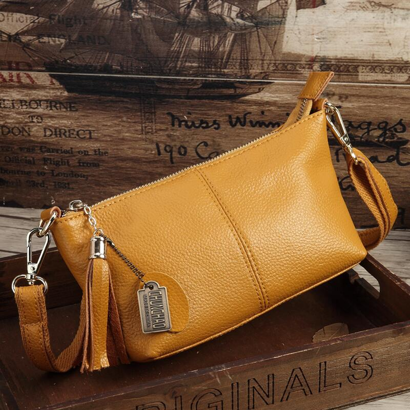Costbuys  Hot Sale Popular Fashion Brand Design Genuine Leather Bag Women Messenger Bags Cowhide Shoulder Bag Women Handbags - Y