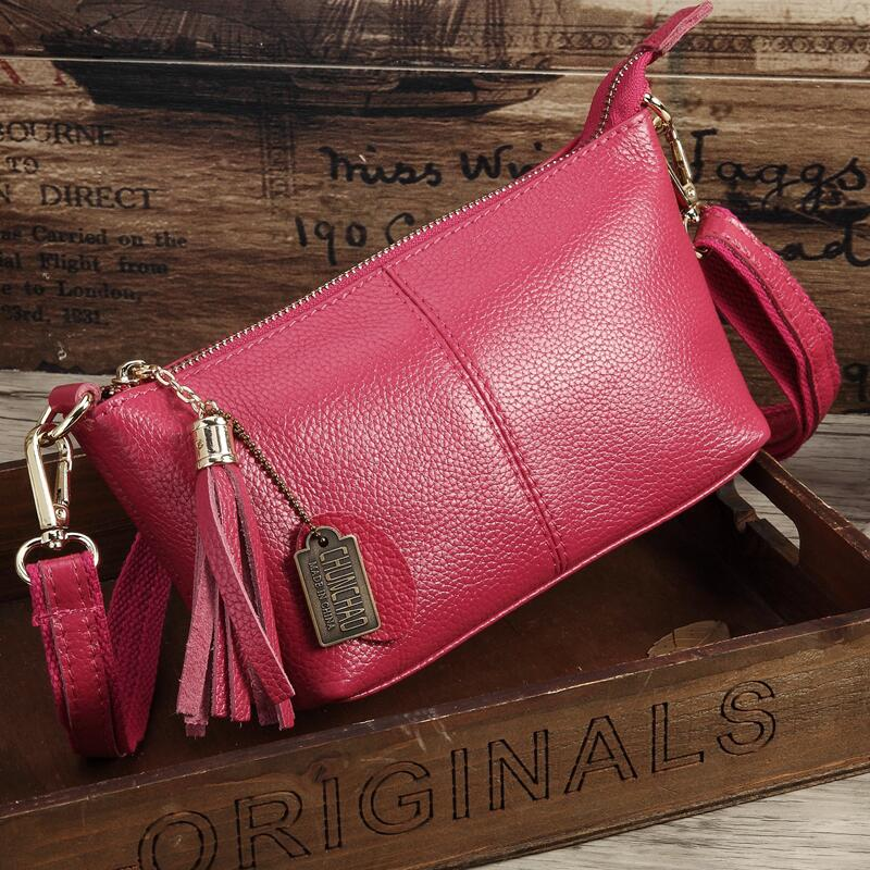 Costbuys  Hot Sale Popular Fashion Brand Design Genuine Leather Bag Women Messenger Bags Cowhide Shoulder Bag Women Handbags - H