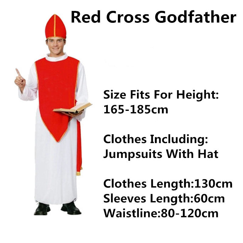 Costbuys  Kids Adults Jesus Drama Priest Costumes Pope Nun Cosplay Costume Women Men Boy Girl Halloween Dress Party Supplies Pur