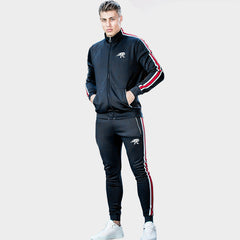 Lengthened Section Sweatpants Men Occident Retro Hip Hop Trousers Side Zipper Hit Color Unisex Casual Pants Gyms Britches
