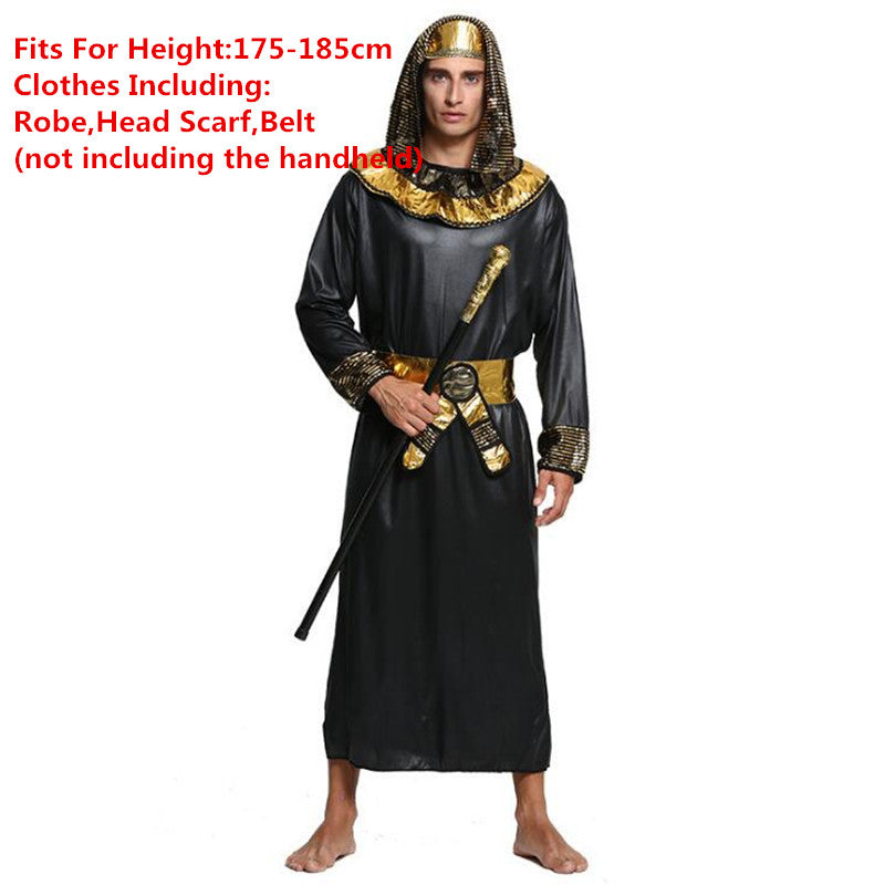 Costbuys  Men Women Egypt Pharaoh Cosplay Costume Adults Lovers Performance Costumes Halloween Masquerade Party Dress Supplies P