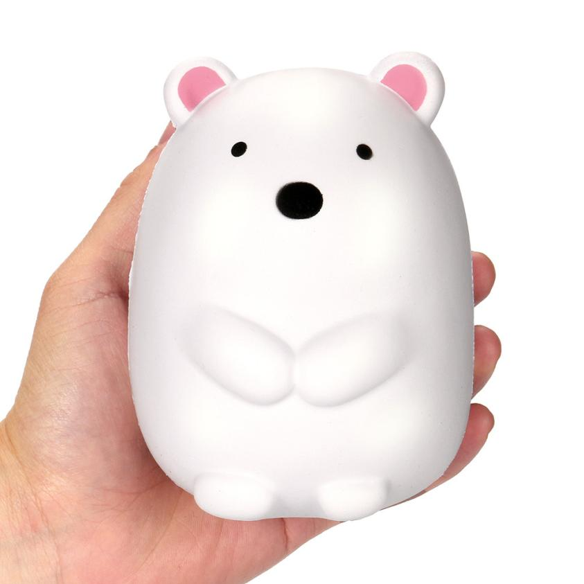 Costbuys  New 12cm Jumbo Cute Polar Bear Cream Scented Slow Rising Charm Toy Anti stress toys for Kids or Children