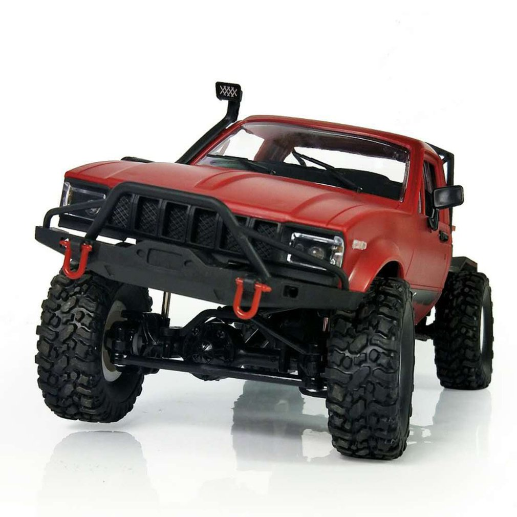 Costbuys  Scale 2.4G 4CH Mini Off-road RC Semi-truck Kids Climb Truck Toy for Children Remote Control Toys - Red / China