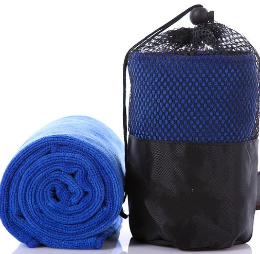 Costbuys  Black Microfibre Towel Outdoor Sports Camping Travel Towels Portable Quick-drying Yoga Gym Sport Towel Popular Beauty