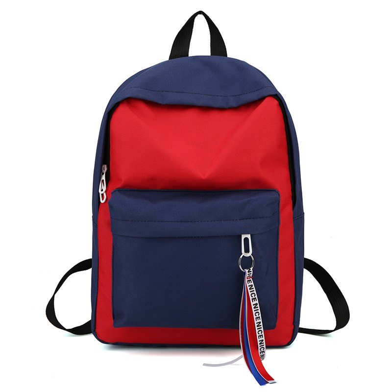 Costbuys  New Canvas Backpack for Teenage Girls School Bags Ribbon Hip Hop Bags Rucksack Female Travel Backpacks rugzak - Red