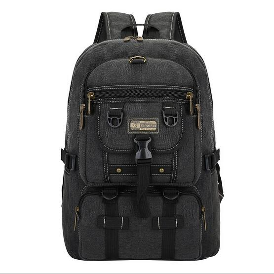 Costbuys  New Design Large capacity Men's Canvas Backpacks Fashion Casual Schoolbag Teenagers Travel Rucksack Male Canvas Bag Mo
