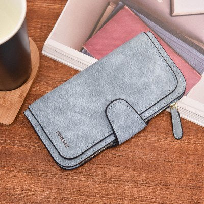 Costbuys  New Fashion Women Wallets Solid Leather Wallets Women Long design Clutch Female Purses Coin Card Holder High Quality -