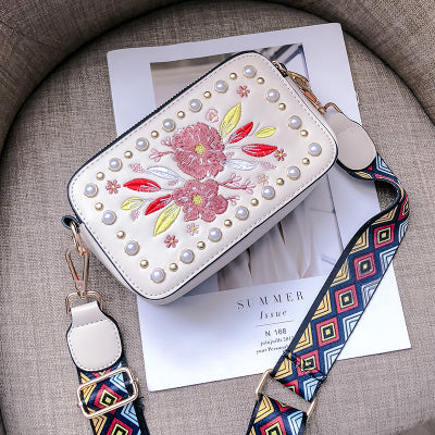 Costbuys  New Fashion Party Women Messenger Bags Embroidery Ladies Small Shoulder Bag Mini Crossbody Bag For Women bolsa feminin