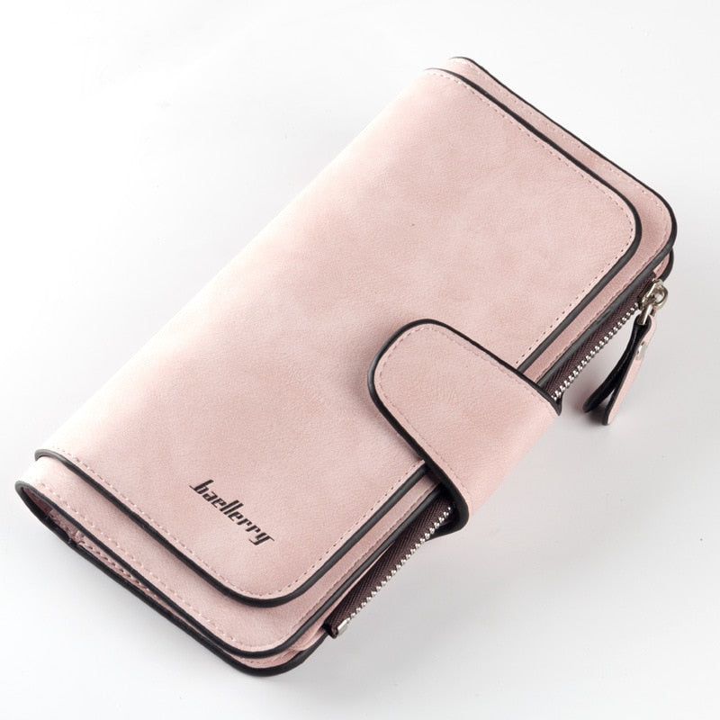 Costbuys  New Fashion Women Wallets Drawstring Nubuck Leather Zipper Wallet Women's Long Design Purse nubuck leather hasp Clutch