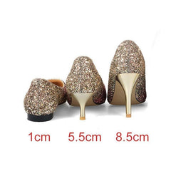 Theels shoes women pumps bling wedding Bridal shoes classic 1cm 5.5cm or 8.5cm pointed toe evening party shoes