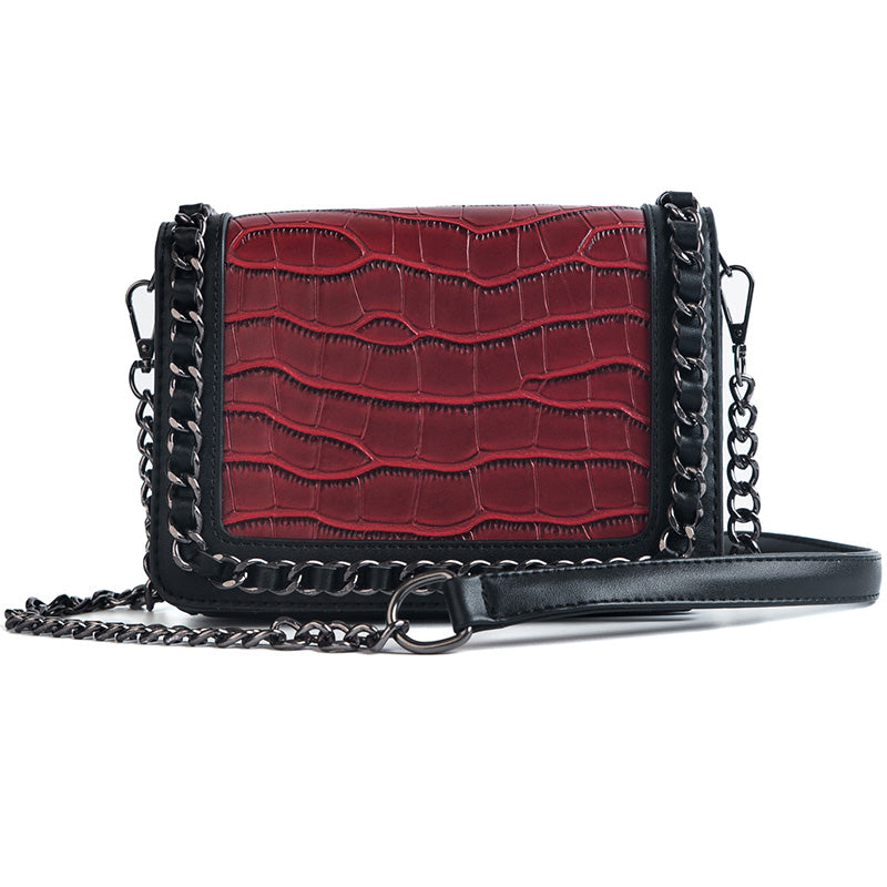 Costbuys  New Luxury Design Women Leather Handbags Female Alligator Pattern Small Shoulder Bags Women Small Chain Crossbody Bags