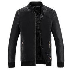 Men's Fashion Men's Spring And Autumn PU Spring Spring Clothing Cultivating Jacket Dress Coat