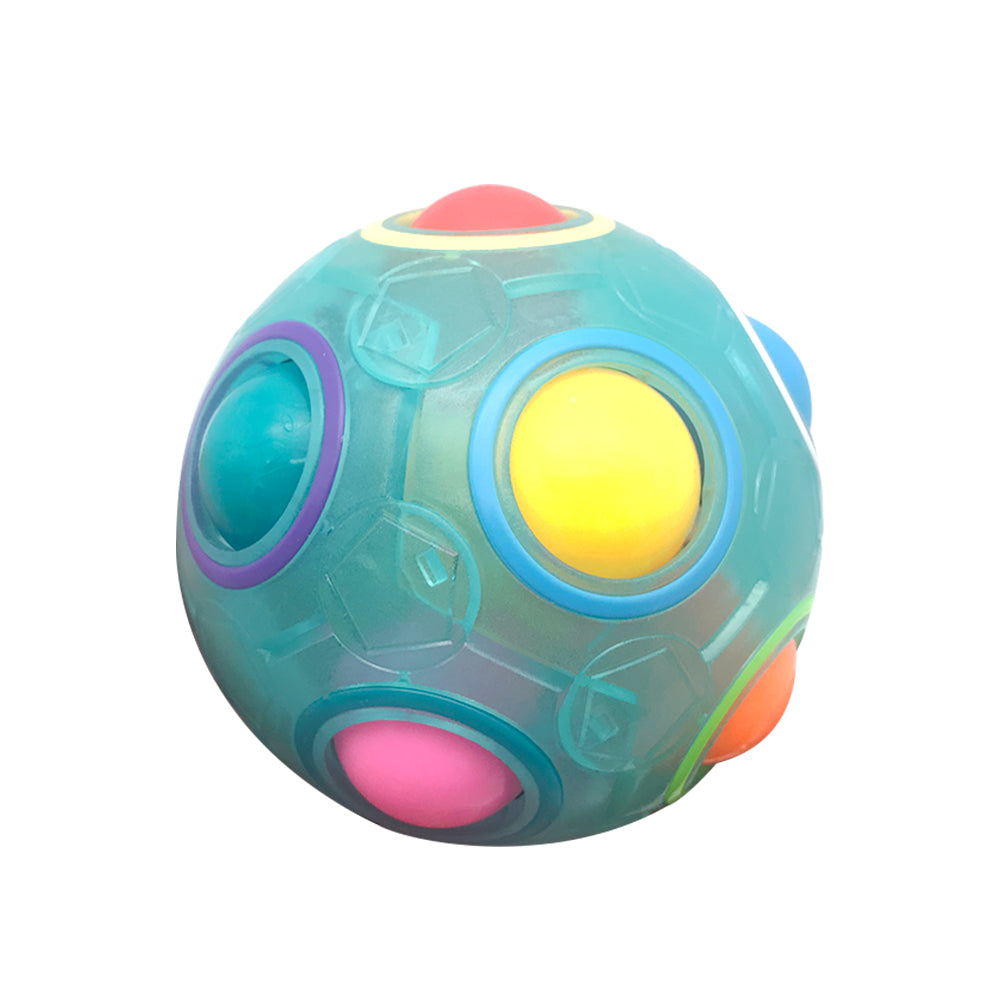 Costbuys  New Mini Magic Rainbow Ball Football Fidget Cube Decompression Finger Toys for Children Boys Girls Stress Relief Toy G