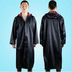 Polyester Men's Long Rain Poncho Waterproof Men Hooded Rain Coat Wind Proof Rainwear Long Jacket For Men Regenpakken