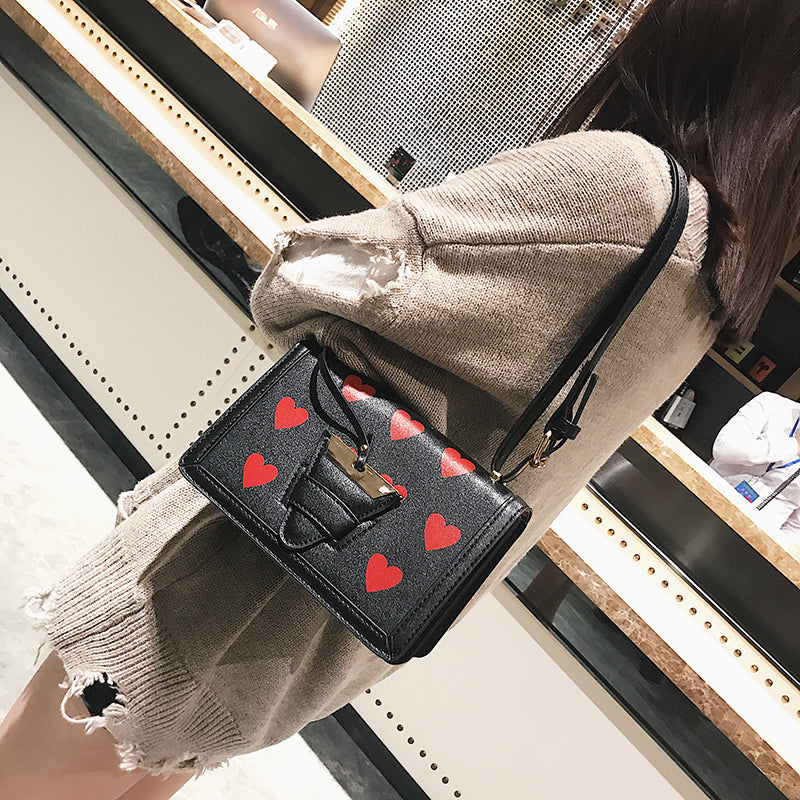 Costbuys  New Print Heart Shoulder Bag Women Fashion PU Leather Mini Bag Female Crossbody Bag Lady Casual Travel Handbag - Big