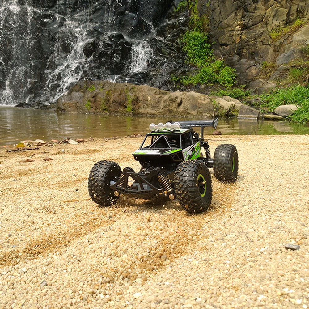 RC Car 1/18 4WD 2.4GHz 16km/H Independent Suspension Spring RC Off Road Cars Remote Control Toys Friend Kids Xmas Gifts