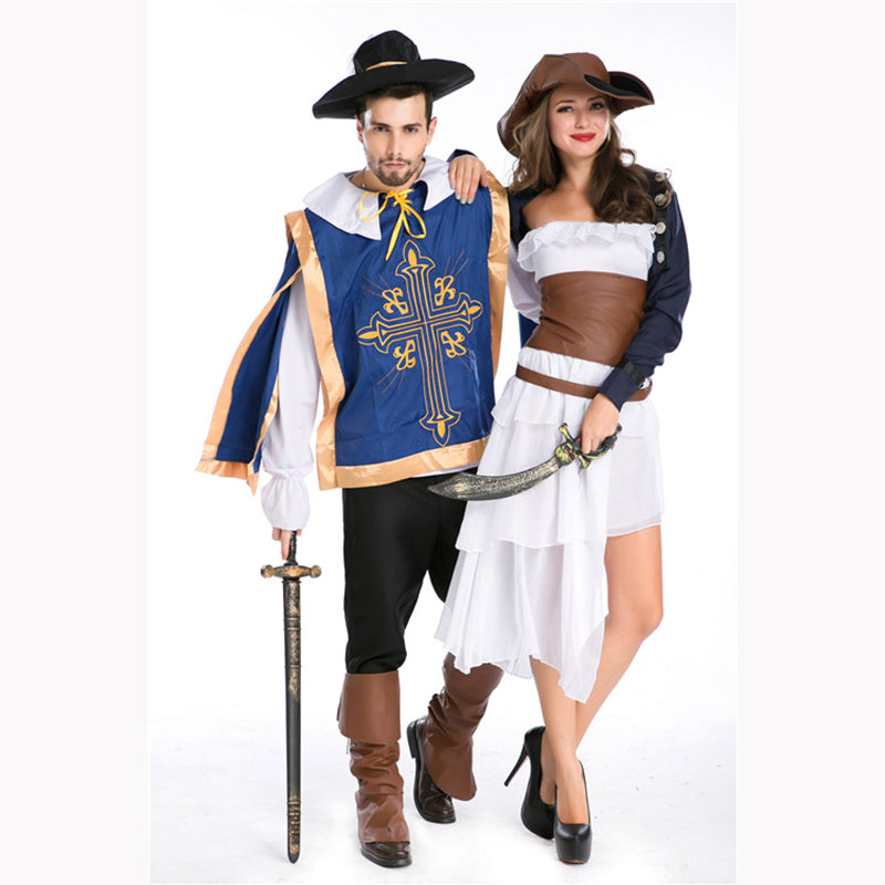 Costbuys  Sexy Women Pirate Costume Men Halloween Fancy Party Dress Carnival Performance Adult Men Pirate Cosplay Costumes - Wom