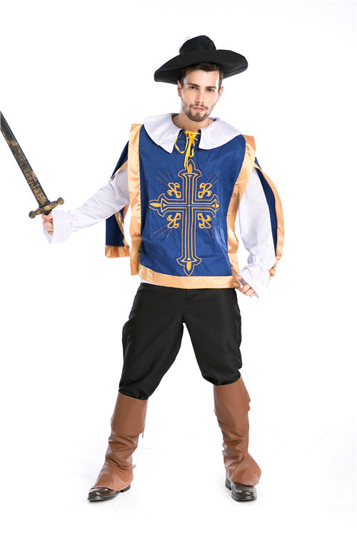 Costbuys  Sexy Women Pirate Costume Men Halloween Fancy Party Dress Carnival Performance Adult Men Pirate Cosplay Costumes - Men
