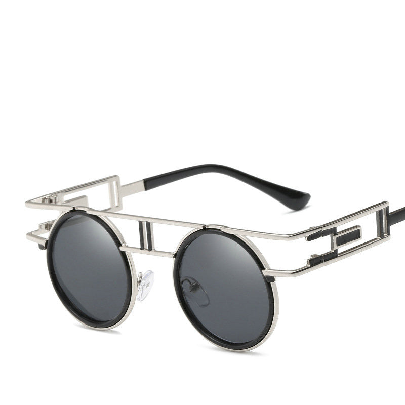 New Small Frame Punk Sunglasses Men\'s High Quality Metal Oval ...