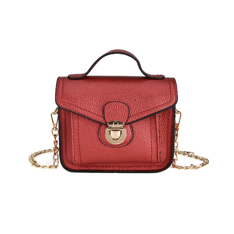 Costbuys  New Solid Flap Shoulder Bag Women Fashion PU Leather Crossbody Bag Female Small Handbag Lady Casual Travel Totes - Red
