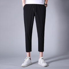 Spring Breathable Pants Skinnly Pencil Pants Men Slim Fit Mens Casual Pants Straight Elastic Trousers Pencil Feet Pants