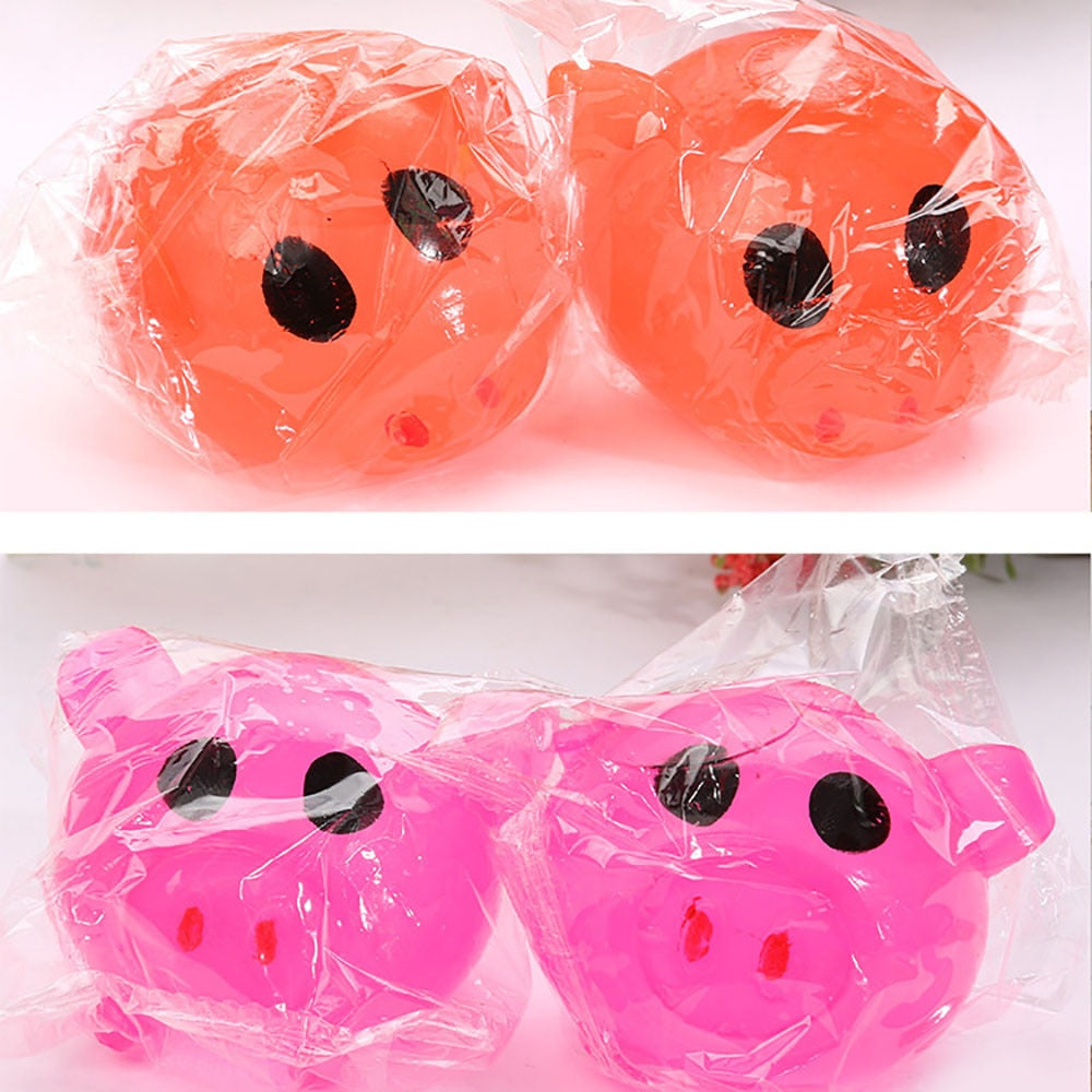 Costbuys  2018 New  Style 1PC Anti-stress Decompression Splat Ball  Pig Toys Vent Toy Smash Various Styles Dropship - random / O