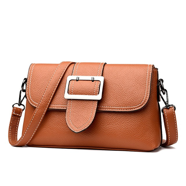 Costbuys  New Women Small Shoulder Bag Simple Fashion Flap Pu Leather Messenger Bag Geometric Casual Clutch Crossbody Bags - 180