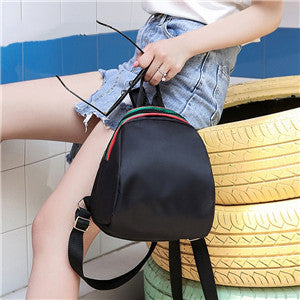 Costbuys  Oxford Cloth Simple Wild Students Small Backpack Women Bag Ladies Shoulder Bag Canvas Package School Bags - Black / 14